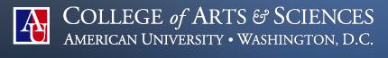 American University, DC: CAS Arts Management